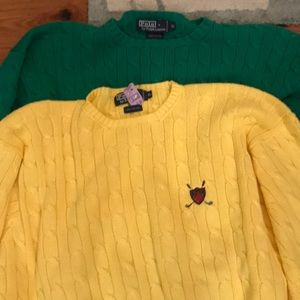 Polo sweater lot